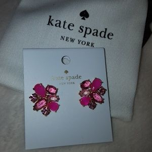 Hot Pink Rhinestone Kate Spade Earrings